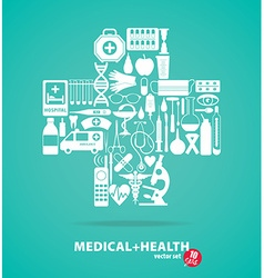 Medical set cross vector
