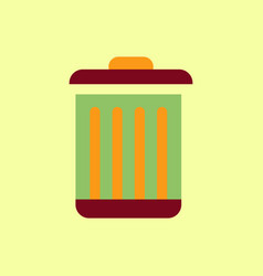Metal garbage can vector