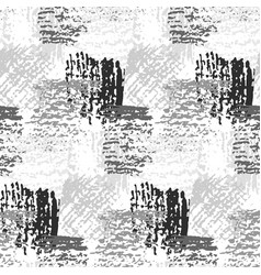 monochrome pattern with grunge gray squares vector image
