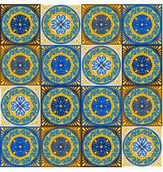 Moroccan ceramic tile seamless pattern vector