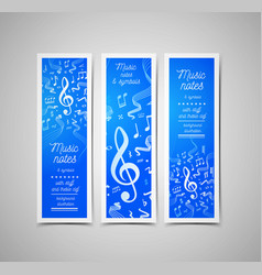 musical staves with music vector image