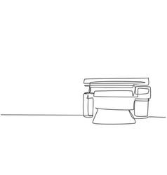 one single line drawing digital laser printer vector image
