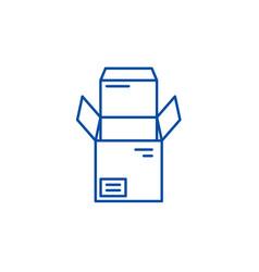 open box line icon concept open box flat vector image