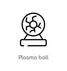outline plasma ball icon isolated black simple vector image