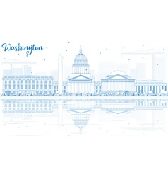 Outline Washington DC Skyline vector image