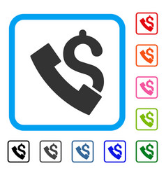Payphone framed icon vector