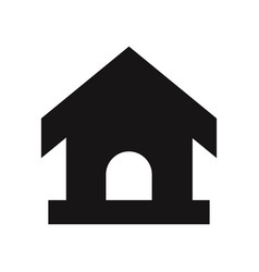 pet house icon vector image