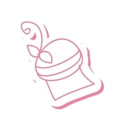 pink muffin dessert vector image