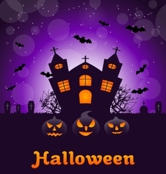Poster banner or background for Halloween Party vector image