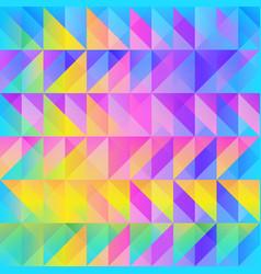 Rainbow triangle pattern vector
