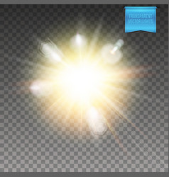 Realistic transparent explosive light effect vector