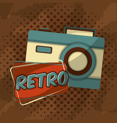 retro vintage photo camera vector image