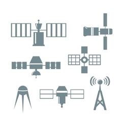 Satellite icons vector image