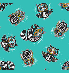 Seamless pattern with mexican skulls vector