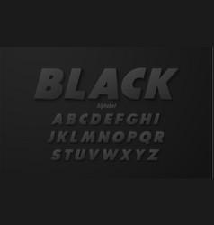 set elegant black alphabet uppercase font vector image