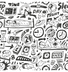 Sleep time - seamless backgound vector