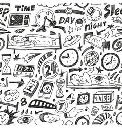 sleep time - seamless background vector image