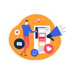 Social media marketing - flat design style vector