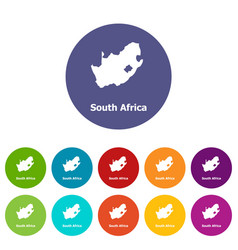 south africa map icon simple style vector image