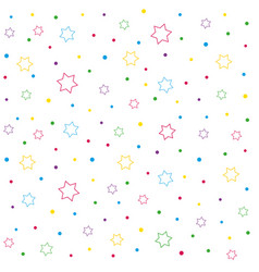 stars and polka dot seamless pattern vector image