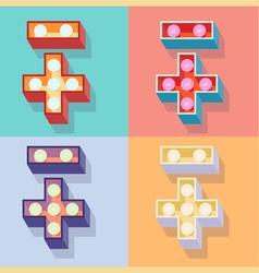 Symbols set vector image vector image