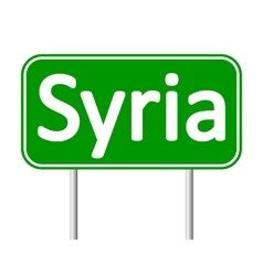 Syria road sign vector