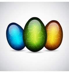 Technology easter eggs vector image vector image