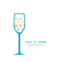 Texture circles stripes abstract wine glass vector