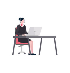 Time to travel tour agent sitting table tourism vector