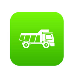 toy truck icon digital green vector image