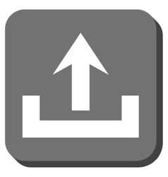 Upload Rounded Square Icon vector