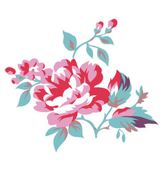 vintage style floral vector image