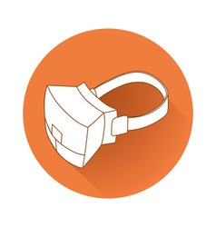 Virtual reality device vector image