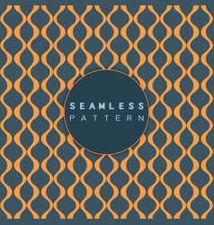 wave pattern seamless retro style for textiles vector image