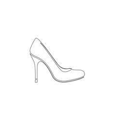women shoes flat icon vector image