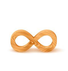 Wooden Infinity Symbol vector image
