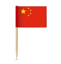 China Flag Flag toothpick 10eps vector image vector image