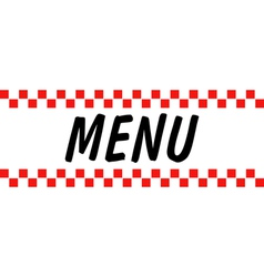 Hotel diner menu vector