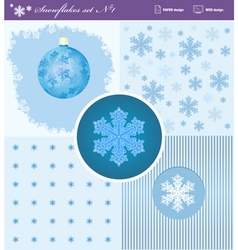 Snowflakes set 1 vector image vector image