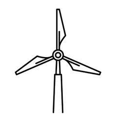 windmill isolated icon design vector image