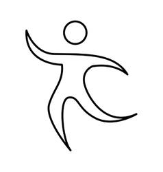 athlete figure human icon vector image