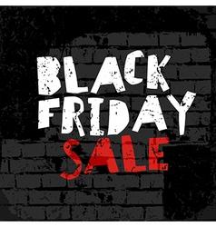 Black Friday poster On brick wall texture vector image vector image