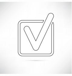 checkbox icon outline vector image