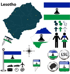 Lesotho map vector image vector image