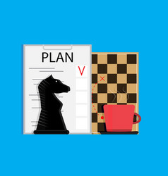 Plan business strategy vector