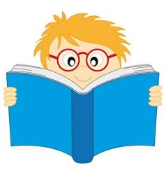 boy read vector image vector image
