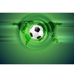 Green football abstract background with world map vector image vector image