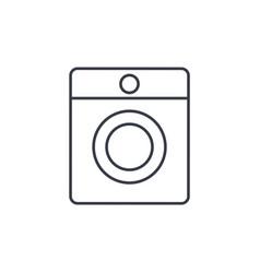 Washing machine thin line icon linear vector
