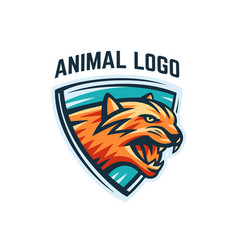 animal logo on a white background vector image