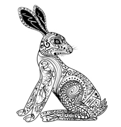 Decorative Rabbit Easter Bunny Hare vector image vector image